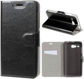 Acer Liquid Z520 Hoesje Zwart met Opbergvakje