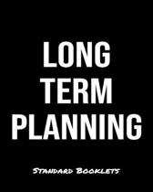 Long Term Planning: A Standard Booklets softcover journal to tracker your daily expenses.