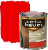 Cetabever Binnenbeits Transparant Acryl - 0,75 liter - Rood