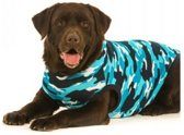 Suitical Recovery Suit Hond - XXS - Blauw Camouflage