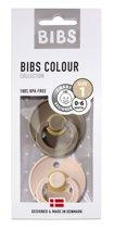 0-6 M Set van 2 Fopspenen Bibs - Dark Oak/blush