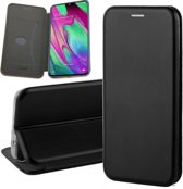 Samsung Galaxy A40 Hoesje - Book Case Flip Wallet - iCall - Zwart