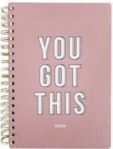Notebook You got this Pink
