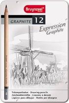Bruynzeel Expression | Grafietpotloden in bewaarblik (12 hardheden)