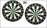 2x Dartbord Blister 38 cm met 6 pijlen