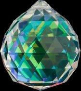 Regenboogkristal bol donker parelmoer AAA kwaliteit