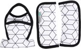 UKJE.NL Gordelbeschermers voor Maxi-Cosi Cabriofix en Citi - Wit geometrisch ♥