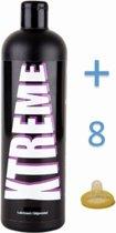 Xtreme Aqua Glijmiddel 500ml incl 8 condooms