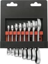 Steek-/ratelsleutelset 8-delig 8 - 19 mm TOOLCRAFT 824125