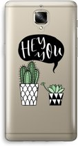 OnePlus 3 Transparant Hoesje (Soft) - Hey you cactus