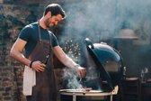 Leren Schort Zwart SPATLAP – Koken – BBQ – Soepel – 1 stuk
