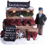 Deco Kerstdecoratie Kraam met kersttukjes 11 x 11 x 10 cm -  LED verlichting