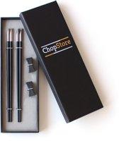 ChopStore Keno Silver Chopsticks - Luxe Cadeau - Zwart