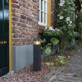 QAZQA Denmark P50 - Terras en tuinpad verlichting - 1 lichts - 85 mm - antraciet