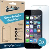 Just in Case Screen Protector Apple iPhone SE / 5s / 5c / 5 - Crystal Clear - 3 stuks