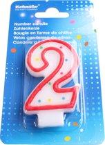 Amscan Verjaardagskaarsje Cijfer 2 Rood