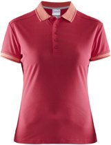 Craft Noble Polo Pique Shirt Wmn Roze maat XS
