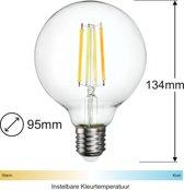 Zigbee Filament LED lamp   95mm   Instelbaar 2700K tot 6500K - Vervangt 60W gloeilamp - Grote fitting E27-compatible met Philips Hue en IKEA Home smart*