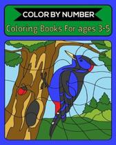 Color By Number Coloring Books For ages 3-5: 50 Unique Color By Number Design for drawing and coloring Stress Relieving Designs for Adults Relaxation