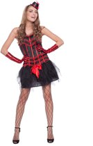 Moulin Rouge Jurk 1pc Volw Maat SM