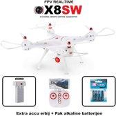 Syma X8SW FPV 720P HD Camera quadcopter + Combi set( Extra accu en 4x batterijen origineel)