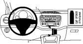 Brodit ProClip VW Up/Skoda Citigo/Seat Mii Bj. 12-13