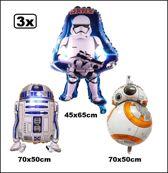 3x Folie ballon Star wars assortie