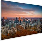 Kleuren in de lucht boven Montreal in Canada Plexiglas 60x40 cm - Foto print op Glas (Plexiglas wanddecoratie)