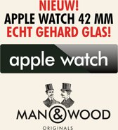Man & Wood Screenprotector / Schermbescherming ECHT GEHARD GLAS (Tempered Glass) - Apple Watch 42 mm