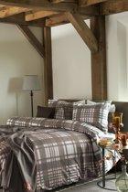 Lifestyle Jean d'Arves flanel dekbedovertrek - Brown - Lits-jumeaux (240x200/220 cm + 2 slopen)