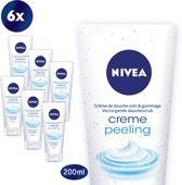 NIVEA Creme Soft Peeling - 6 x 200 ml - Voordeelverpakking