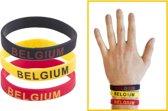 3 Armbandjes Belgie - Rode duivels