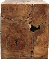 HSM Collection Kubus bijzettafel - 30x30 cm - teak - natural wax