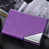 Business Card Holder - Paars - Visitekaarthouder - Aluminium - Kaartjes - bedrijfskaart - Visitekaarthouder aluminium - visitekaartjes houder - visitekaartmapje - trendy businesscardhouder