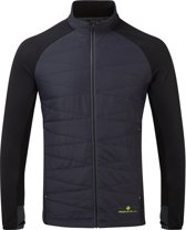 Ron Hill Stride Hybrid Jacket Heren Zwart HardloopjackSize : M