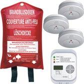 Smartwares FSS-15 Brandpreventieset - 3 rookmelders - 1 blusdeken - 1 CO-melder