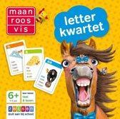 Boekomslag van 'Maan Roos Vis - Letterkwartet'