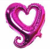 Folieballon Fantasie hart roze 45 cm