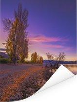 Wanakameer tijdens de herfst in Nieuw-Zeeland Poster 120x160 cm - Foto print op Poster (wanddecoratie woonkamer / slaapkamer) XXL / Groot formaat!