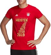 adidas FC Bayern Meister Tee GC9993, Mannen, Rood, T-shirt maat: S EU