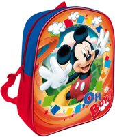Disney Mickey Mouse oh boy - Rugzak 28 cm - Kinderen - Rood en Blauw