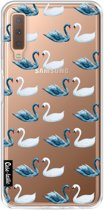 Casetastic Softcover Samsung Galaxy A7 (2018) - Swan Party