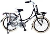 Spirit Omafiets Zwart 20 inch - Meisjesfiets - Transportfiets - Kinderfiets