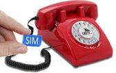 retro telefoon met SIM kaart Opis '60 mobile