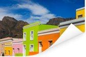 Kleurrijke huizen in de straten van Kaapstad in Zuid-Afrika Poster 60x40 cm - Foto print op Poster (wanddecoratie woonkamer / slaapkamer)