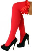 Overknee kousen rood met strik