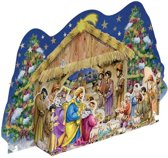 Kerststal opzet met adventskalender