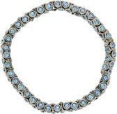 Elastische armband met blauwe steentjes