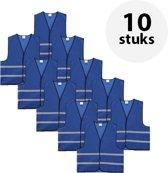 Veiligheidshesje - Veiligheidsvest - Volwassene - Blauw - 10 stuks