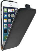 Stijlvolle lederen iPhone 6 Plus Flip Case, Zwart, merk i12Cover